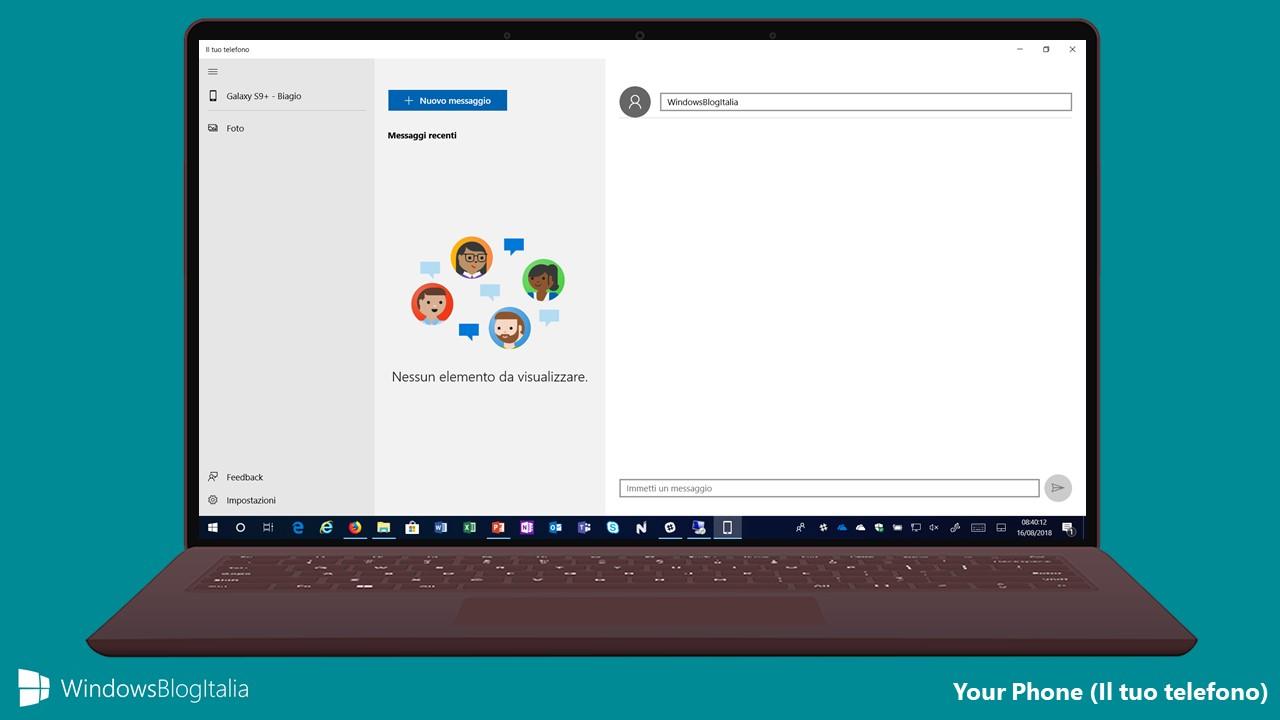 Come disinstallare l'app Il Tuo Telefono da Microsoft Windows