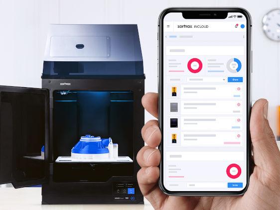 Zortrax lancia il cloud di massima sicurezza per la gestione delle stampanti 3D