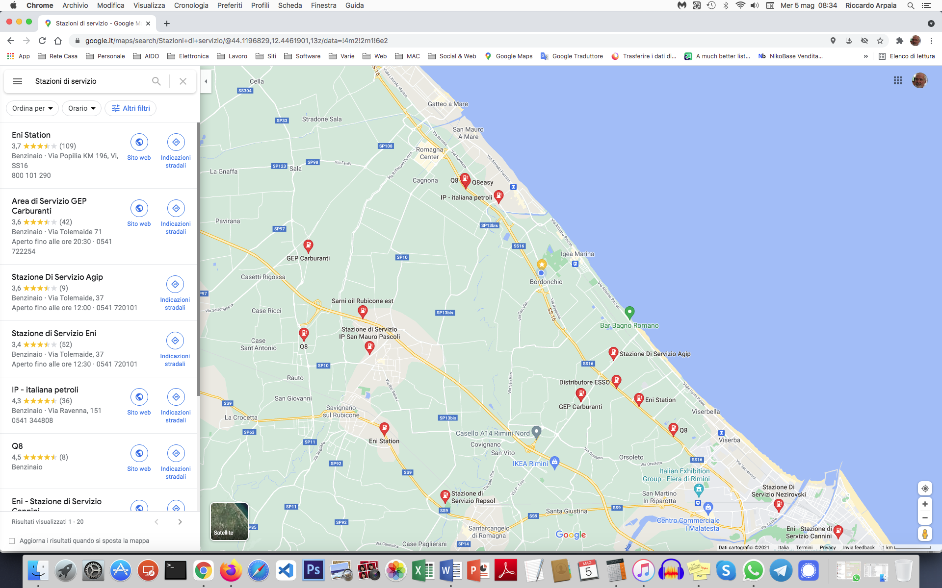 Cercare i benzinai più economici e convenienti vicino a te su Google Maps