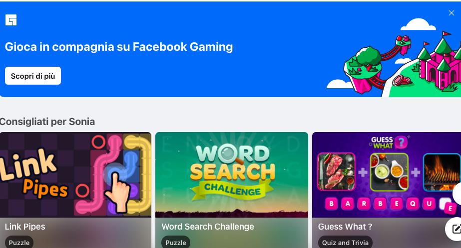 Facebook Instant Games: i giochi Facebook passano per il cloud