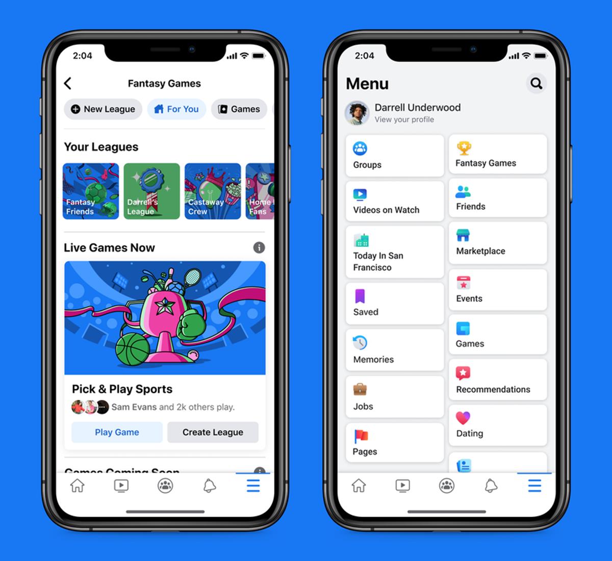Facebook entra nel mercato dei giochi fantasy