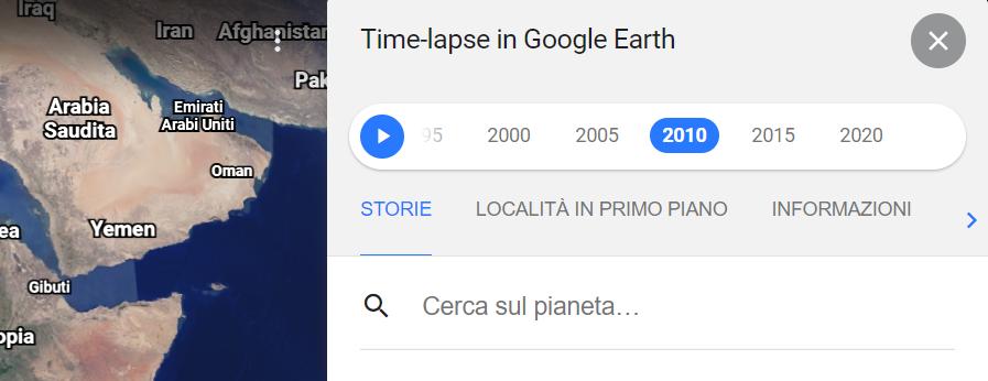 Come utilizzare al meglio la funzione Timelapse di Google Earth