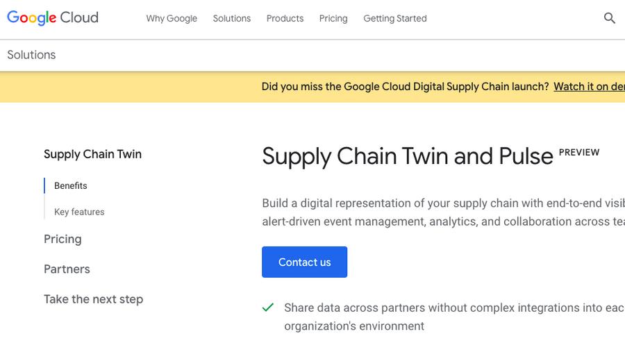 Cos'è Supply Chain Twin, il nuovo servizio di Google Cloud