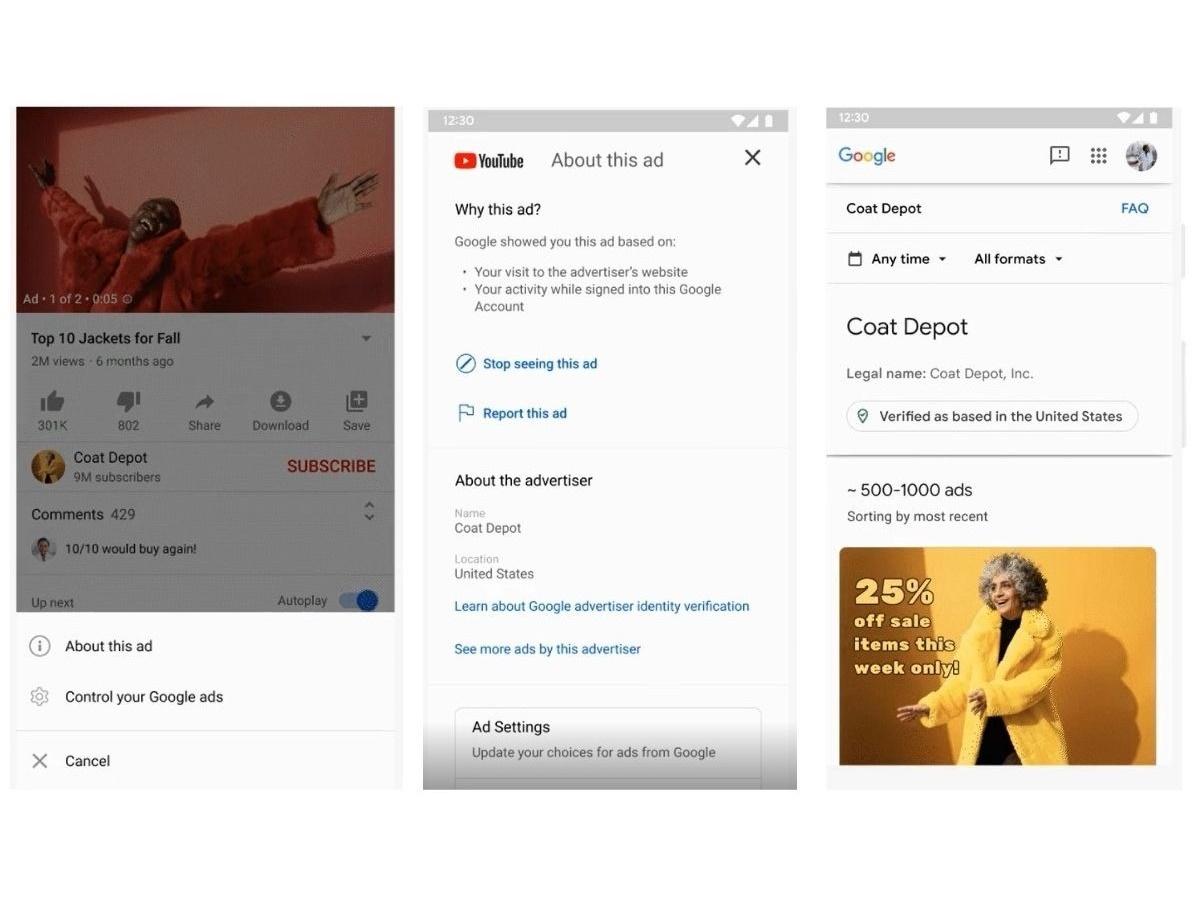 Google renderà accessibile la cronologia pubblicitaria degli inserzionisti