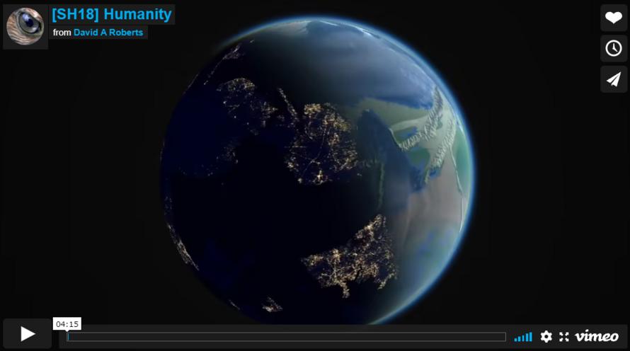 L'artista informatico David A. Roberts racchiude 4 miliardi di anni di vita della Terra in un video di 4 minuti