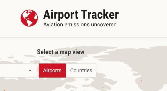 Su Airport Tracker puoi visualizzare i livelli di inquinamento degli aeroporti di tutto il mondo