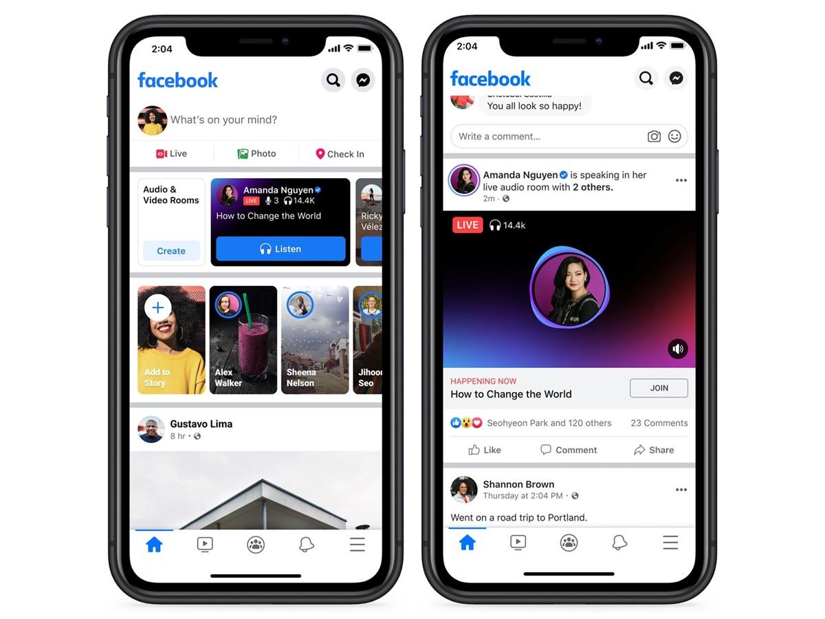 Facebook lancia le sale audio live in Italia e nel resto del mondo
