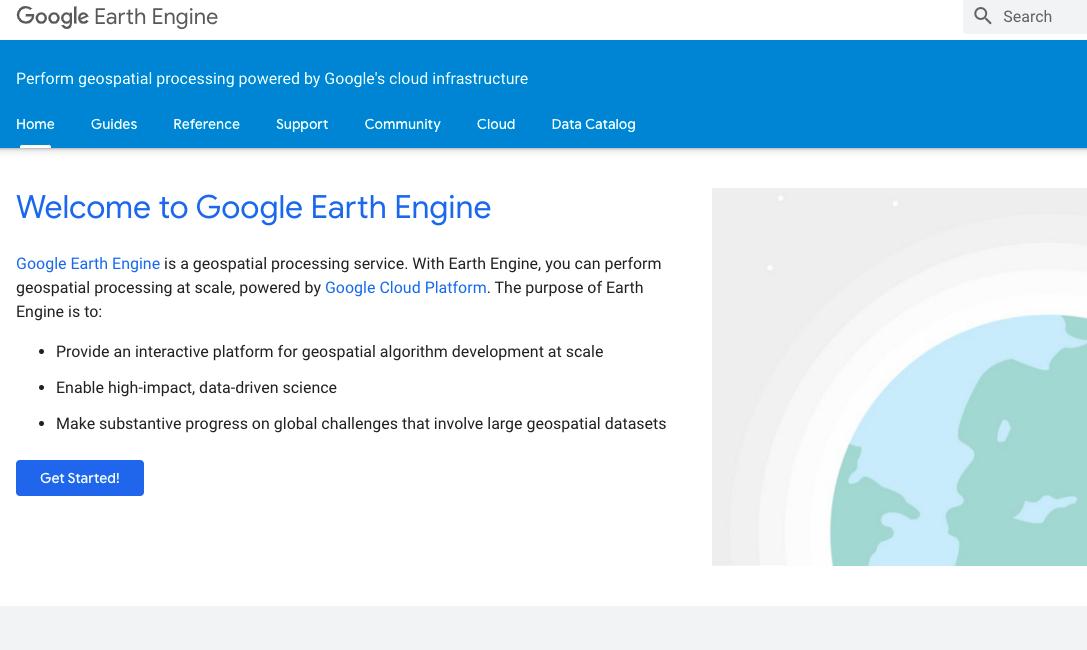 Google presenta la possibilità di avere in anteprima alcune nuove funzioni di Google Earth Engine